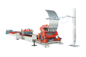 STEEL SILO ROLL FORMING MACHINE LINE AND CURVING UNIT