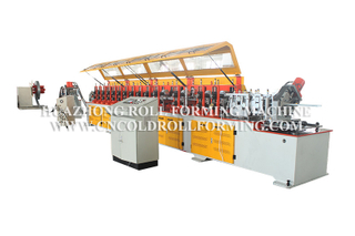 CABLE TRAY ROLL FORMING MACHINE WITH HYDRAULIC PUNCHING